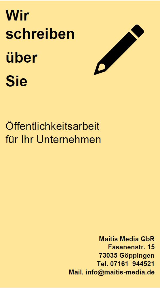 """Banner gelb """"Öffentlichkeitsarbeit"""""""